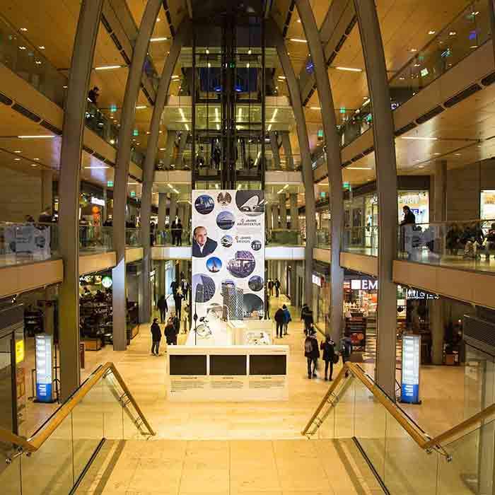 POS Einkaufszentrum Display