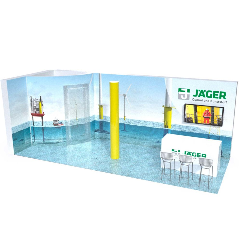 Jäger Gummi und Kunststoff Messestand 3D Modell