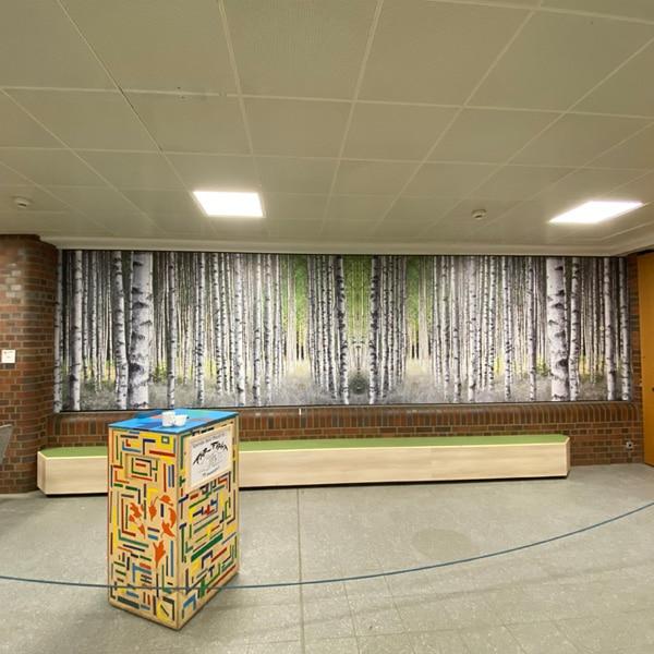 Wandfolierung Waldmotiv